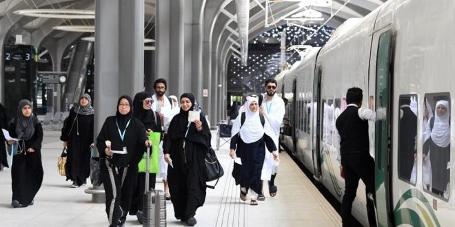 قطار الحرمين الشريفين يسير أول رحلاته لخدمة حجاج 1440 هجرية من المدينة إلى مكة